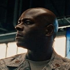 James Bethea como Guardia de Seguridad del Ejército
