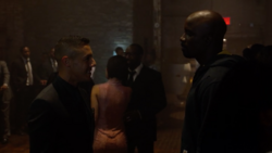 Luke Cage and Shades at the party