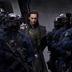 Loki es prisionero en el Helicarrier.
