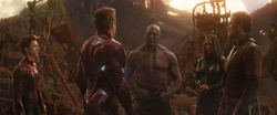 Spider-Man, Iron Man, Drax, Mantis & Star-Lord (Titan)