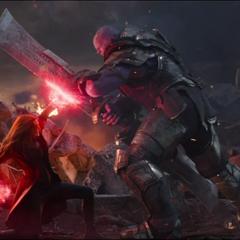 Thanos confronta a Maximoff.