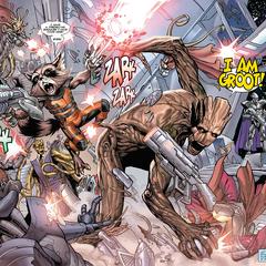 Rocket y Groot traicionan a Zade Scraggot.