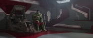 Hulk on his Bed