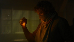 Rand prepares fist