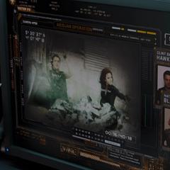 Romanoff y Barton en una de sus misiones juntos.