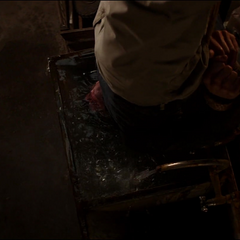 Karpov muere ahogado en su fregadero.