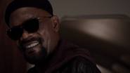 Nick Fury Smiles