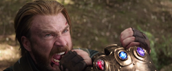 Captain America fighting Thanos (full Gauntlet)