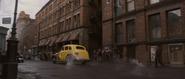 Kruger fleeing in NY Cab