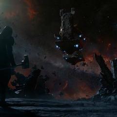 Ronan se reúne con Thanos en el Santuario.
