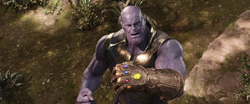Thanos completes the Infnity Gauntlet