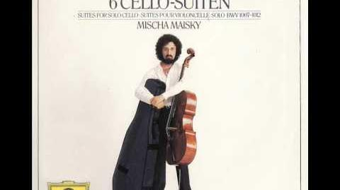 Bach Cello Suite No.1 G major Courante Mischa Maisky BWV 1007