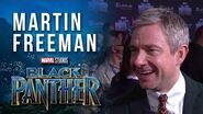 Martin Freeman at Marvel Studios' Black Panther World Premiere Red Carpet