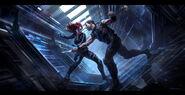 Andyparkart-the-avengers-black-widow-vs-hawkeye