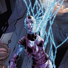 Nebula es capturada por una red de energía.