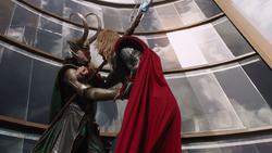 Loki Stabs Thor