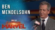 Ben Mendelsohn on being the villain! Captain Marvel Red Carpet LIVE Premiere