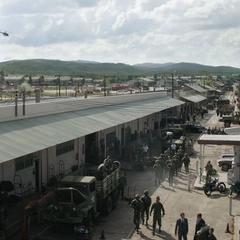 El ejército entrenando en el Campamento Lehigh.