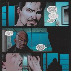 Fury fracasa en su intento de reclutar a Stark para los Vengadores.