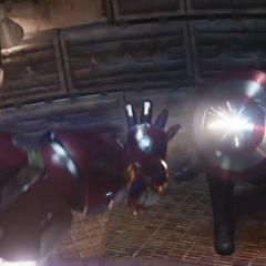 Rogers protege a Barnes de Stark.