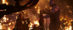 Star-Lord, Gamora & Thanos (Reality Stone Bubbles)