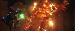 Mysterio vs Molten Man