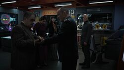 Coulson gives out orders