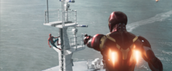 Iron Man spots Spider-Man (Staten Island Ferry - Homecoming)