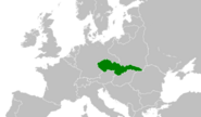 Map of Czechoslovakia
