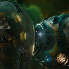 Rocket habla con Quill sobre la situación de Gamora.