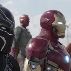 Stark y su equipo listos para luchar.