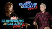 Karen Gillan & Pom Klementieff on Marvel Studios' Guardians of the Galaxy Vol