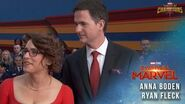 Captain Marvel Directors Anna Boden and Ryan Fleck Interview Red Carpet Premiere