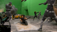 Filming on set The Avengers 01