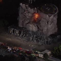 La sede de Pym Technologies implosiona.