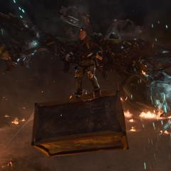 Toomes dominado por la avaricia intenta llevarse una caja que contiene tecnología de Stark.