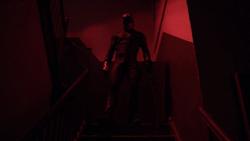 Daredevil esperando a los Perros del Infierno