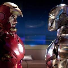 Rhodes decide detener a Stark utilizando el Mark II.