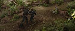 Corvus Glaive vs. Captain America