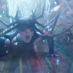 Hela a punto de ser expulsada del Puente Arcoíris por Thor.