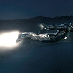 Stark volando con el Mark II.