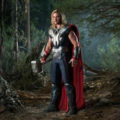 Thor es confrontado en el bosque por Stark.
