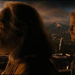 Odín y Thor lamentan la partida de Loki.