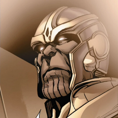 Thanos supervisa la recuperación de Gamora y Nebula tras una misión.