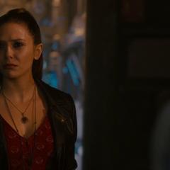 Reaccion de Wanda a la llegada de los Vengadores.