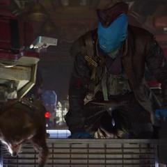 Rocket y Yondu llegan al planeta de Ego.