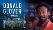 Donald Glover on the Marvel Studios' Black Panther World Premiere Red Carpet