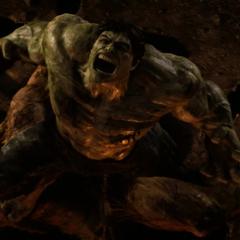 Hulk ruge tras vencer a Blonsky.