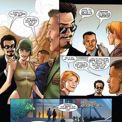 Stark y Rhodes asisten a un club nocturno.