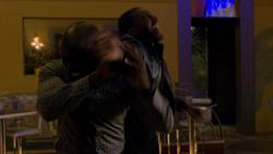 Luke fights henchmen